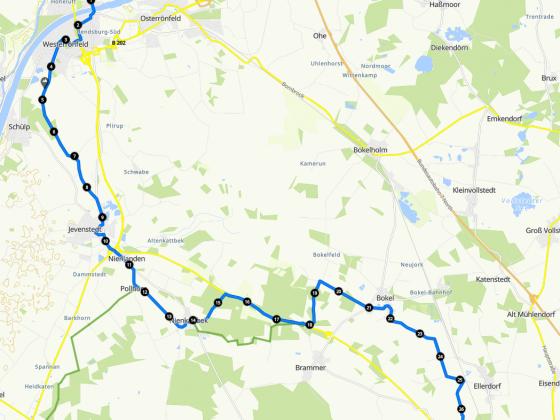 Mittwoch erster Teil 29 km