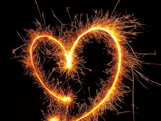 Herz in Flammen !