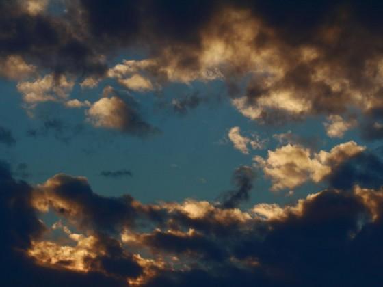 Das letzte Sonnenlicht des Tages
