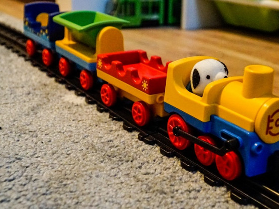 Töff, töff, töff, die Eisenbahn