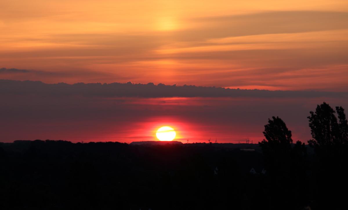 Morgensonne um 5:17 Uhr