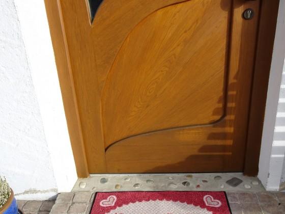 Willkommensgruß am Eingang